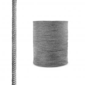 Fireplace fiberglass rope seal SKD02 10 mm dark grey