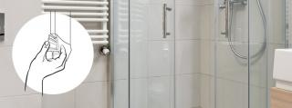 Replacement of a shower seal in 3 easy steps