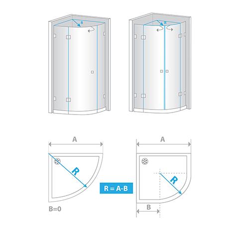 How to measure semicircular shower enclosure?